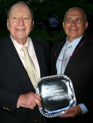 Virgil with Richard Pink, Board Chairperson